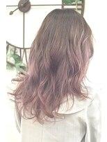 ヘアーサロン エール 原宿(hair salon ailes)(ailes 原宿)style362デザインカラー☆スモーキーピンク