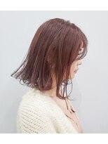 エイム ヘアメイク 横川店(eim HAIR MAKE)切りっぱミディ×ピンクベージュ