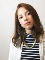 ヘアメイクエシェル 野々市店(Hair Make e‐shell)かきあげバングの大人なセミディースタイル☆