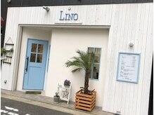 リノ(LINO)の雰囲気(白基調の外観で青い扉がアクセントの美容室【LINO】☆)