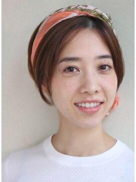 デコ(DECO)【DECO MARIA】スカーフアレンジ*前髪なし×大人ショートボブ