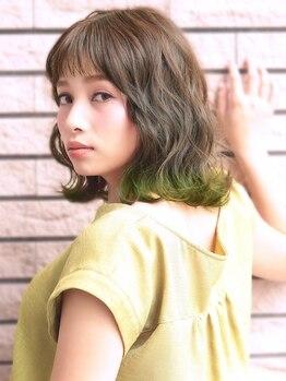 ヘアスピリッツアンクス(Hair Spirit anx)の写真/極潤ダメージレスAQUAナノスチーマー付☆色持ち最高♪繰り返しても傷まない☆質感とツヤ髪で女子力UP♪