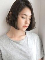 ライムヘアービューティフィー(Lime hair beautify)ワンレン×アッシュグレージュ☆前下がりショートボブ