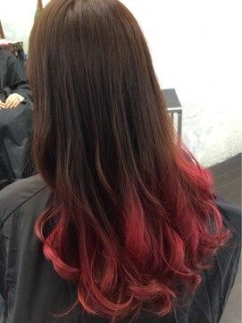 サラ ツヤ美髪 グラデーションカラー 毛先ピンク L002187336