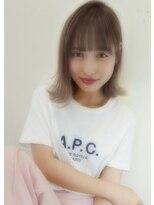 アンジェリカ ハラジュク(Angelica harajuku)【Angelica 白石研太】 グレージュカラーシースルーバング
