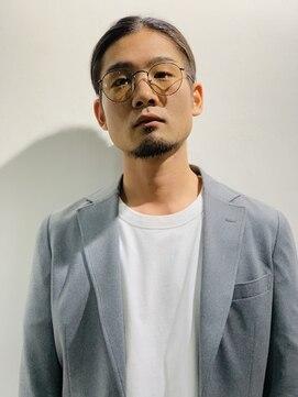 クロム トウキョウ ザ バーバー 新宿(CHROM TOKYO the Barber)2ブロックマンバンヘア