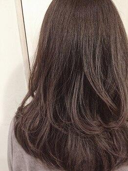 ディアプルール(DIAPRURE)の写真/白髪染めも理想の色味に!繰り返すほど柔らかくシルクのような感触に◎髪質改善しながらしっかり染まる☆