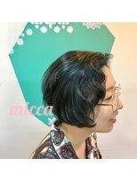 ミッカ(micca)【micca下北沢】70sカール×ブルーラッシュカラー