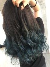 ヘアーデザイン リマ(Hair Design Lima)Lima外国人風カラーアッシュグレージュ×ターコイズブルー