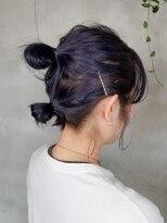 テトヘアー(teto hair)アレンジ 紫 ラベンダーカラー ヘアアレンジ 紫カラー