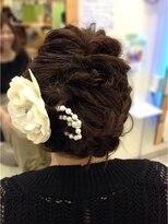 結婚式の外国人風ヘアセット画像