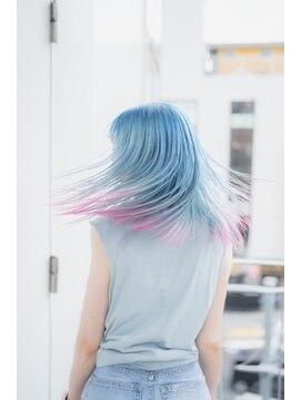 サイ(sai)【sai】インナーカラー裾カラーデザイン