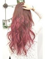 ヘアーサロン エール 原宿(hair salon ailes)(ailes 原宿)style363 デザインカラー☆ローズレッドグラデ