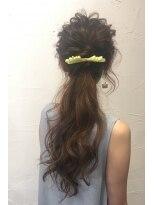 ラ ブランシュ 大宮(La Blanche)パーティーポニーテール/大宮美容室/韓国ヘア/髪質改善
