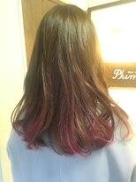 ヘアーメイク プリュム(Hair make Plume)グラデーションピンク