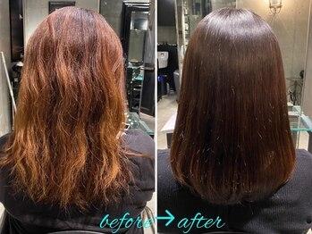 エノア 青山(ENORE)の写真/【ENOREオリジナル弱酸性縮毛矯正】髪質を見極め、「なりたい髪」と「悩み」にフォーカスして、髪質改善!!