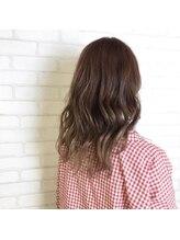 ミック ヘアアンドメイクアップ 川口店(miq Hair&Make up)緩やかな毛流れで大人の色気を!セミディ☆キャメルベージュ♪