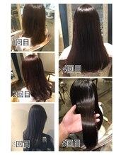 scintillerオリジナル髪質改善で艶とまとまりのあるメニュー