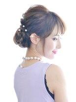 ヘアーサロン ラフリジー(Loufreasy)おすすめアレンジ♪上品でかわいいまとめ髪♪ヘアセット4490円