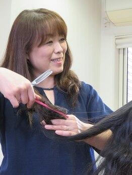 美容室 ペルル(Perle)の写真/《朝のスタイリングが簡単にきまる》年齢と共に変化する髪質や毛量に合わせたスタイル提案に定評あり!
