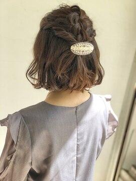 ヘアリラクゼーションリノ (Hair Relaxation Lino)結婚式お呼ばれアップ ボブ×ハーフアップ