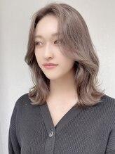 ジェニー ハラジュク(geny harajuku)韓国人風くびれミディ×エギョモリ長めバングSHIGE