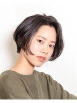 ムード 金沢文庫 hairdesign&clinic mu;d黒髪モードレトロボブ
