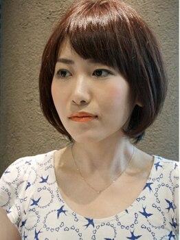デンヘアープロデュース(DEN Hair Produce)の写真/《小顔&可愛くみえる黄金バランス》を見極めたスタイル創りに自信!!ご自宅での再現性にもこだわります♪