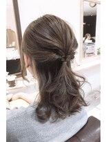 ルルカ ヘアサロン(LuLuca Hair Salon)LuLucaお客様☆スナップ アッシュベージュ&簡単アレンジ