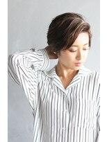エヌ(N / 92co.)N/92.co かきあげバングのショートヘア