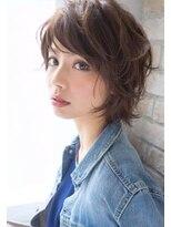 ボニークチュール(BONNY COUTURE)石田ゆり子さん風・大人かわいい40代のクセ毛風ショートボブ