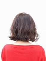 ユニカ ヘアー(UNICA hair)尾道市 人気 UNICA 切りっぱなしボブ ベージュカラー