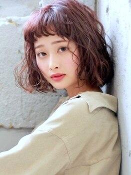 """サラ 徳山店(SARA)の写真/あふれる透明感でふんわり柔らかい雰囲気を演出!似合わせるオリジナルカラーであなた""""らしい""""Styleに◎"""