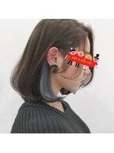 エメールヘア(aimere hair)ブルーアッシュインナーカラー