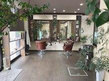 ヘアーデザイン ルシア(Hair Design Lucia)の雰囲気(観葉植物溢れる、ゆったりと落ち着けるプライベート空間♪)