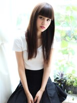 【Violet】ぱっつん重め前髪×サラサラロングヘア