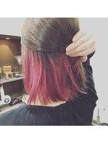 ヘアーメイク プリュム(Hair make Plume)インナーカラー×ピンク