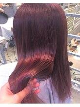 カラーでクセやダメージを髪質改善☆ヘアカラーエステ