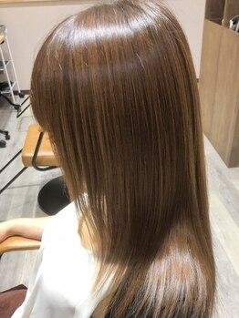 ヘアーアンドビューティー ママコルテ(Hair&Beauty mamacorte)の写真/加齢やケミカルダメージで傷んだ髪も、《ヘアマゼラントリートメント》で毛先まで潤うみずみずしい髪に―♪