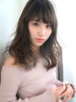 リー 神楽坂(Re-)黒髪バレイヤージュ×デジタルパーマ☆愛されセミデイ