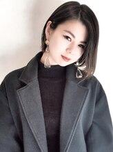 ヘアーヴィーヴル 鴨島店(Hair BIVRE)モードグレージュ × 前下りボブ by shiho