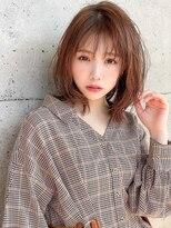 アグ ヘアー リノ 大名店(Agu hair reno)《Agu hair》柔らかオレンジベージュミディ