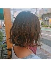 ハブコヘアスパ(HaBCo hair spa)切りっぱなしボブ×透明感カラー
