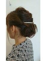 ファルコヘア 立川店(FALCO hair)編み込みネープシニオンスタイル