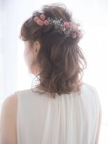 【aRietta】結婚式・二次会可愛いフィッシュボーンハーフアップ.