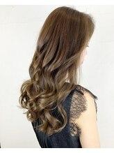 【ダメージレスカラー】×【美髪トリートメント】質感滑らかパサつきを抑える☆ツヤサラ色持ちカラー