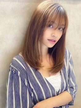 アグ ヘアー チャーム 光が丘店(Agu hair charm)の写真/【縮毛矯正+カット¥6900】想像以上に柔らかな曲線美に。クセを伸ばす×360度綺麗なシルエットを両立!