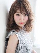 ライムヘアービューティフィー(Lime hair beautify)センターパート×厚めバング☆清楚感120%ピュアミディ