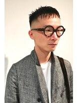 メリケンバーバーショップ(MERICAN BARBERSHOP)ビジネスアーバン黒髪とメガネ1