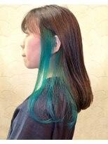 アッシュタカサキ(ash takasaki)インスタ人気のインナーカラー×透明感シアーアッシュブラウン